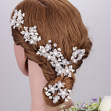 Akril Fejfedők / Hair Clip / Hair Tool val vel Virág 1db Esküvő / Különleges alkalom / Évforduló Sisak / Hair Pin