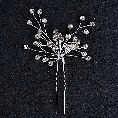 Ötvözet Fejfedők Hair Pin with Virág 1db Esküvő Különleges alkalom Halloween Évforduló Születésnap Újszülött Házavató Gratulálok
