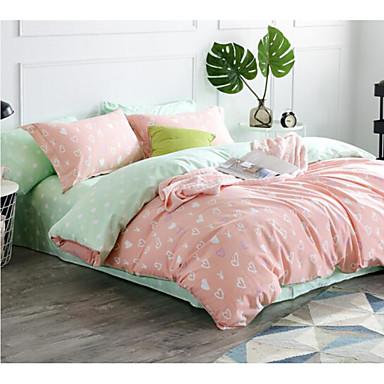Natur 4 Stück Baumwolle Baumwolle 1 Stk. Bettdeckenbezug 2 Stk. Kissenbezüge 1 Stk. Betttuch