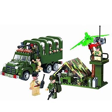 ENLIGHTEN Spielzeug-Autos / Bausteine / Minifiguren aus Blockbausteinen 308 pcs Militär / Auto Fun & Whimsical Jungen Geschenk