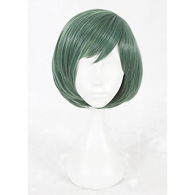 Jelmez parókák / Szintetikus parókák Egyenes Faux Locs Paróka Zöld Jelmez paróka Rövid Szintetikus haj