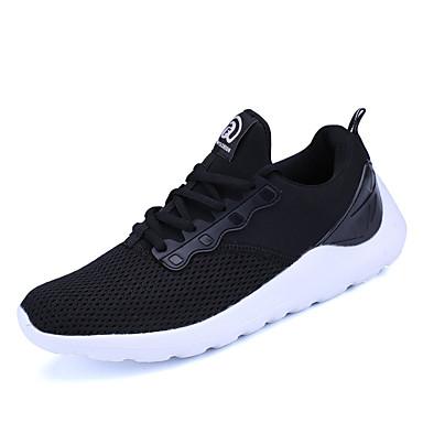 Férfi cipő PU Tavasz Ősz Kényelmes Tornacipők Futócipő Fűző mert Sport Hétköznapi Fehér Fekete Kék