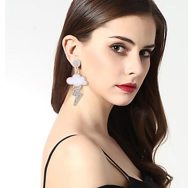 Női Luxus / Eltérés / Bikini Mások Strassz Strassz Rendhagyó fülbevalók - Luxus / Eltérés / Nyilatkozat Fehér Geometric Shape Fülbevaló