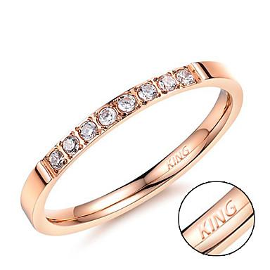 Személyre szabott ajándékot Gyűrűk Strassz Titanium Acél Női Glitters Egyszerű Geometrijski oblici Természet által inspirált Divatos és