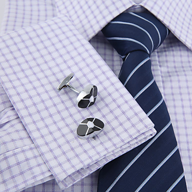 Geometric Silver Cufflinks Gift Boxes & Bags / Fashion Men's Costume Jewelry For