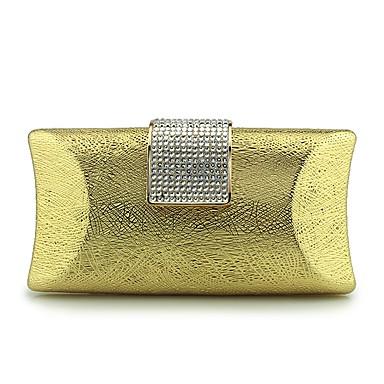 Damen Taschen PU Abendtasche Schnalle Metallkette Rüschen für Hochzeit Veranstaltung / Fest Normal Formal Frühling/Herbst Ganzjährig Gold