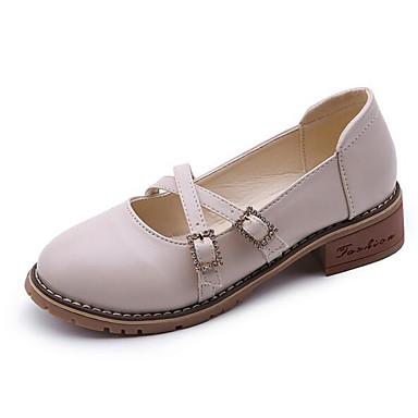 Damen Schuhe PU Herbst Komfort Sandalen Für Normal Schwarz Grau Mandelfarben