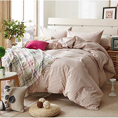 Schottenstoff/Kariert 4 Stück Baumwolle Baumwolle 1 Stk. Bettdeckenbezug 2 Stk. Kissenbezüge 1 Stk. Betttuch