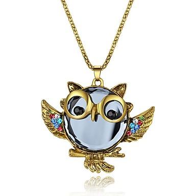 Női Szintetikus gyémánt Nyaklánc medálok  -  Klasszikus Divat Állat Arany Nyakláncok Kompatibilitás Parti Ajándék Napi