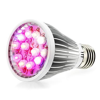 290-330lm E14 GU10 E26 / E27 Voksende lyspære 12 LED perler Høyeffekts-LED Naturlig hvit UV Blå Rød 85-265V