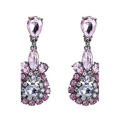 Damen Tropfen-Ohrringe Kristall Kubikzirkonia Personalisiert Luxus Klassisch Retro Böhmische Grundlegend Handgemacht nette Art