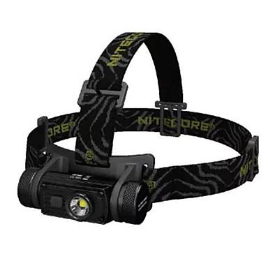Nitecore HC60 مصابيح أمامية LED Cree® XM-L2 T6 بواعث 1000 lm 8.0 إضاءة الوضع مع البطارية وكابل USB واسع الانتشار إضاءة للسفر Camping / Hiking / Caving Everyday Use الصيد أبيض اللون لمصدر اللمبة