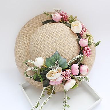 Tüll Chiffon Korbwaren Stoff Kunststoff Seide Netz Fascinatoren Hüte 1 Hochzeit Besondere Anlässe Geburtstag Party / Abend Kopfschmuck