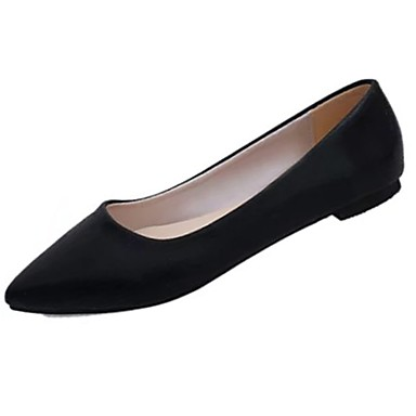 Women's Shoes PU(Polyurethane) Spring Light Soles Flats Flat Heel Pointed Toe Gold / Black / Silver