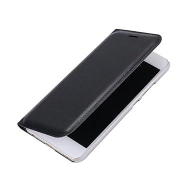 Case Kompatibilitás Huawei P9 Huawei P9 Lite Huawei Kártyatartó Flip Héjtok Tömör szín Kemény PU bőr mert P10 Plus P10 Lite P10 Huawei P9