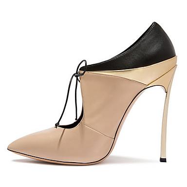 Mujer Zapatos Piel de Oveja Verano Confort / Pump Básico Sandalias Heterotypic Heel Blanco / Almendra Grande Vente Le Moins Cher CyCWEEIBVy