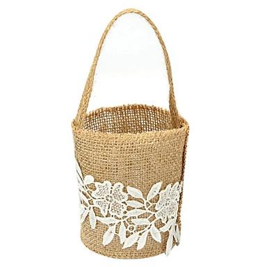 Flower Basket Linen 9 7/8