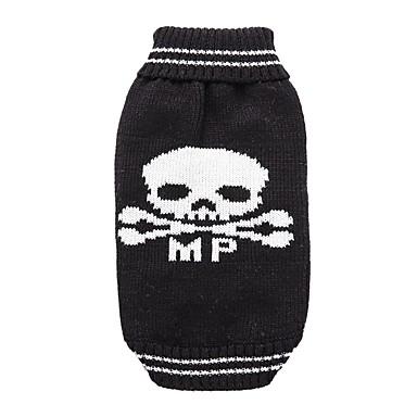 Kutya Kabátok Pulóverek Kutyaruházat Koponya Fekete Akrilszálak Jelmez Háziállatok számára Férfi Női Party Casual/hétköznapi Szerepjáték