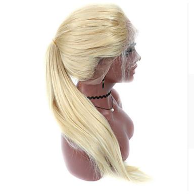 Emberi haj Tüll homlokrész Csipke eleje Paróka Brazil haj Egyenes Paróka 130% Haj denzitás baba hajjal Professzionális írás új Lehet használni, száraz-nedves Természetes hajszálvonal Női Rövid