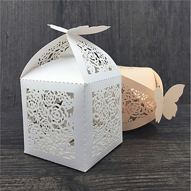 Others Creative Pearl Paper Favor Holder with Pattern Favor Boxes - 50