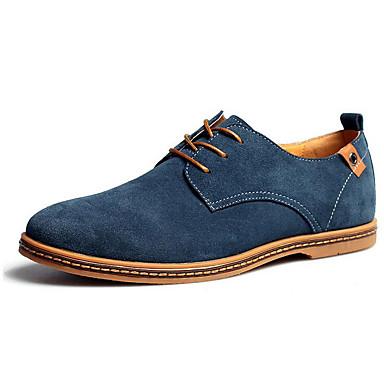 Férfi Formális cipők Mikroszálas Ősz / Tél Kényelmes Félcipők Kék / Teveszín / Khakizöld / Esküvő / Party és Estélyi / Suede cipő