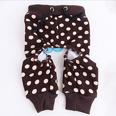 Dog Pants Dog Clothes Polka Dot Cotton Costume For Pets Men's / Women's Casual / Daily