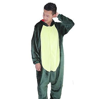 Adults' Kigurumi Pajamas Dragon Dinosaur Onesie Pajamas Flannel Fabric Green / Pink Cosplay For Men and Women Animal Sleepwear Cartoon Festival / Holiday Costumes