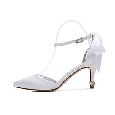 Printemps Escarpin Basique pointu amp; Strass 06390603 Bout Confort Chaussures Pièces Deux D'Orsay Chaussures Eté Satin mariage de Femme qxvZwzEgq