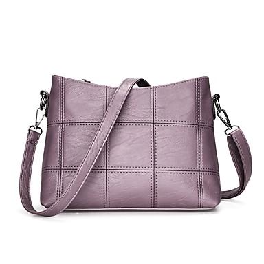 Női Táskák PU Vállon átvetős táska mert Hétköznapi Minden évszak Fekete Rubin Arcpír rózsaszín Szürke