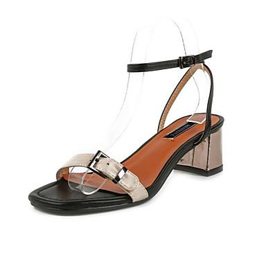 Damen Schuhe PU Sommer Komfort Sandalen für Normal Weiß Schwarz