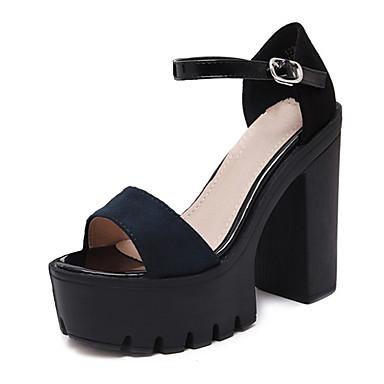 Damen Schuhe PU Sommer Komfort Sandalen Schwarz / Grün