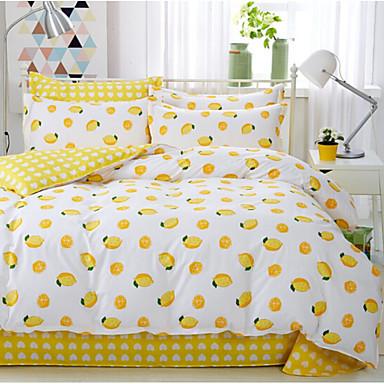 Kreativ 4 Stück Baumwolle Druck Baumwolle 1 Stk. Bettdeckenbezug 2 Stk. Kissenbezüge 1 Stk. Betttuch