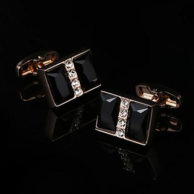 Geometrische Form Golden Manschettenknöpfe Modisch Geschenkboxen & Taschen Herrn Modeschmuck