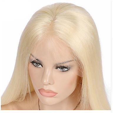 Emberi haj Csipke eleje / Tüll homlokrész Paróka Egyenes 130% Sűrűség Professzionális írás / új / Lehet használni, száraz-nedves Rövid /