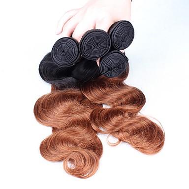 Perui haj Hullámos haj Ombre Emberi haj sző Fekete / Medium Auburn