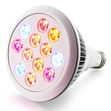 280-320lm E27 Voksende lyspære 12 LED perler Høyeffekts-LED Blå Rød 85-265V