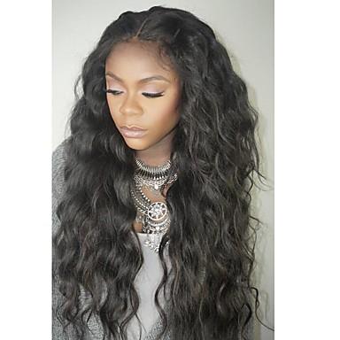 Human Hair Lace Front Wig Brazilian Hair Wavy Wig Layered Haircut / With Baby Hair 130% Natural Hairline / For Black Women / 100% Virgin Women's Short / Medium Length / Long Human Hair Lace Wig