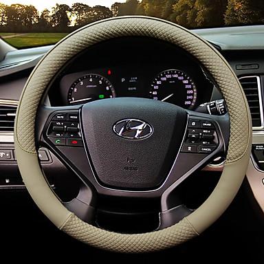 abordables Accessoires Intérieur de Voiture-couvre-volant de voiture en cuir anti-dérapant protecteur ajustement 38cm, antidérapant et sans odeur