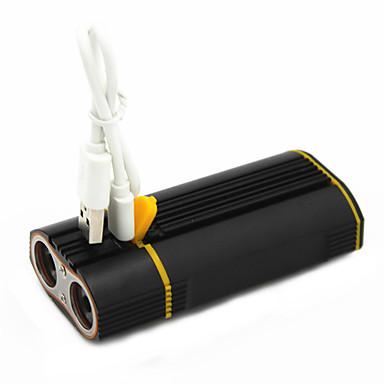 billige Lommelykter & campinglykter-ANOWL Sykkellykter 1600 lm LED LED 2 emittere 3 lys tilstand med USB-kabel Bærbar Reise Størrelse Enkel å bære Sykling