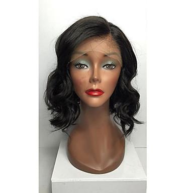 Emberi haj Csipke eleje Paróka Brazil haj Hullámos haj Réteges frizura 130% Sűrűség 100% kézi csomózású 100% Szűz Afro-amerikai paróka