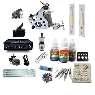 BaseKey Tattoo Machine Starter Kit - 1 pcs Tattoo Machines with 1 x 5 ml tattoo inks, Professional LCD power supply Case Not Included 1