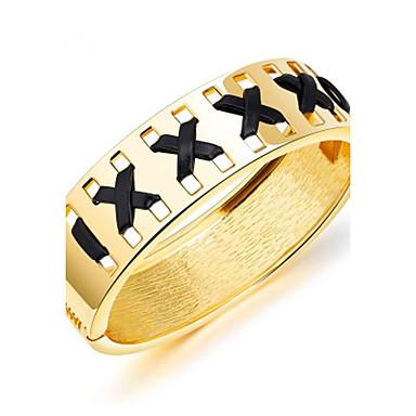Női Arannyal bevont Karperecek Bilincs karkötők - Divat minimalista stílusú Geometric Shape Arany Ezüst Karkötők Kompatibilitás