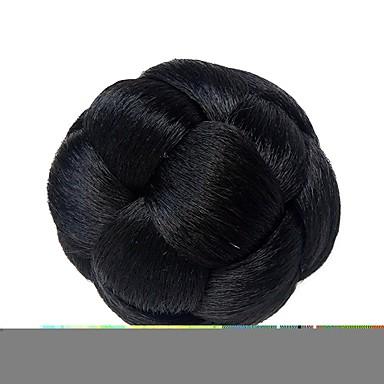 Fekete Klasszikus Újévi Karácsony Mindszentek napja Hajkonty Fejtetőre fésült frizura Jó minőség Kontyok Felcsatolható Szintetikus haj