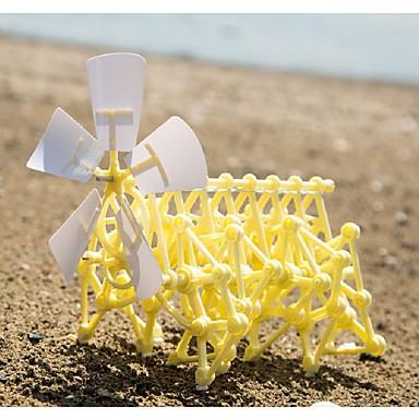 gyermekek oktatási kreatív szél powered diy walker robot játék mini strand teremtmény összeállítás modell játék készlet gyerek ajándék