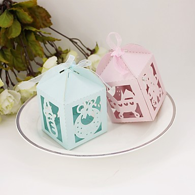 Round Square Cubic Card Paper Favor Holder with Printing Favor Boxes - 12
