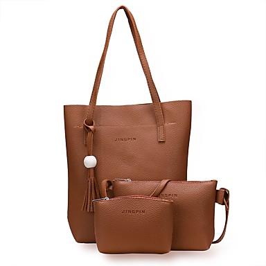 Női Táskák PU táska szettek Cipzár mert Hivatal és karrier Rubin / Arcpír rózsaszín / Sárga
