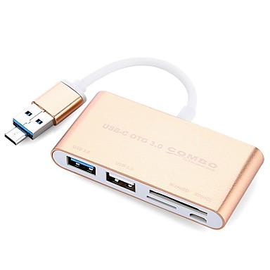 5 USB Hub USB 3.0 Micro USB 2.0 USB 2.0 USB 3.0 Micro USB 2.0 Az olvasó (k) Ultra Slim OTG Adatközpont