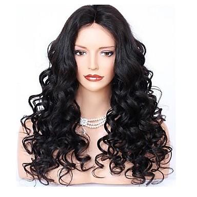 Remy haj Csipke 360 Frontális Paróka Hullámos 360 Frontal 150% 180% Sűrűség 100% kézi csomózású Női