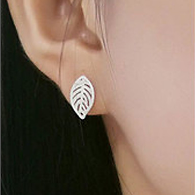 Women's Stud Earrings / Drop Earrings - Sterling Silver Leaf Classic, Fashion Silver For Daily / Casual
