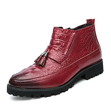 Férfi cipő Személyre szabott anyagok Tél Ősz Divatos csizmák Csizmák Magas szárú csizmák Rojt mert Hivatal és karrier Party és Estélyi